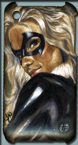 Black Cat iPhone case by gattadonna