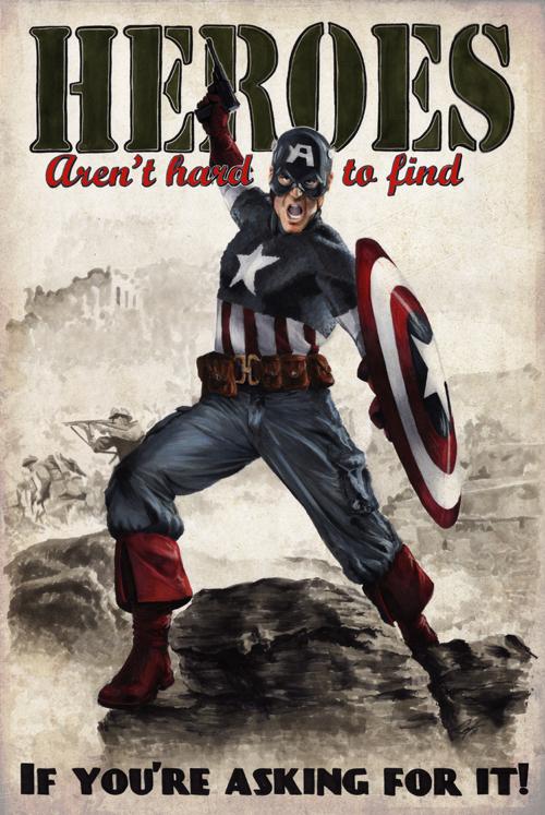 Heroes Captain alternate by gattadonna