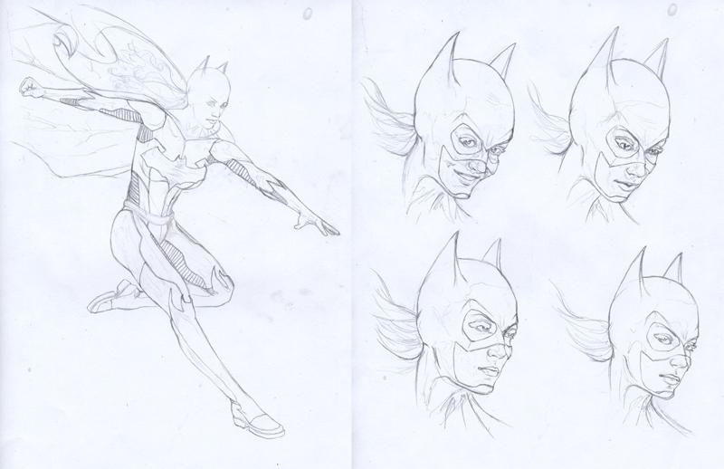 Batgirl prelim pencils by gattadonna