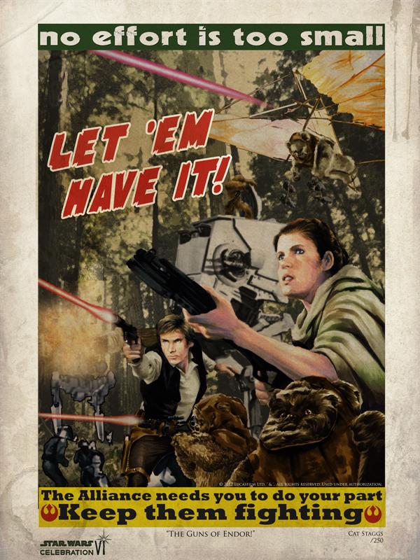The Guns of Endor! Star Wars CVI print