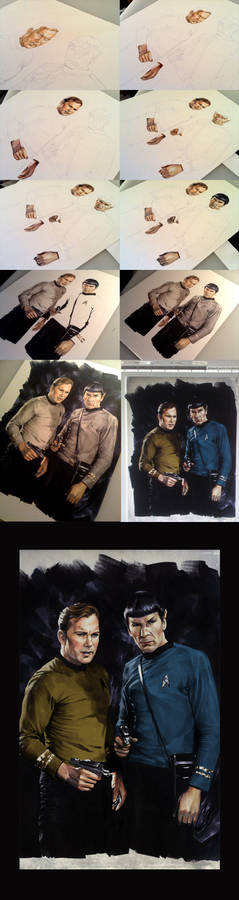 Kirk and Spock Step by Step