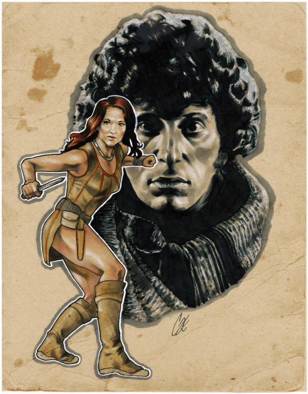 Leela and Dr. Who by gattadonna