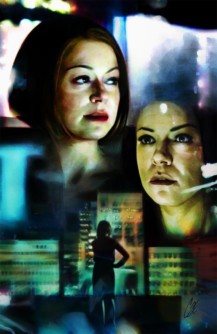 Orphan Black #1 cover H Sarah and Rachel by gattadonna