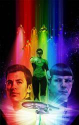 Star Trek/green Lantern Spectrum War #6 var by gattadonna
