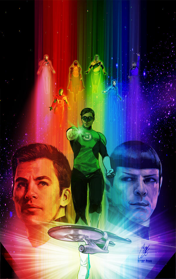 Star Trek/green Lantern Spectrum War #6 var by gattadonna