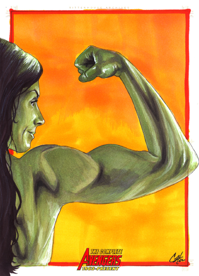 Complete Avengers: She Hulk by gattadonna