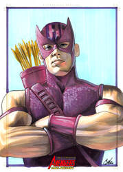 Avengers:Hawkeye by gattadonna