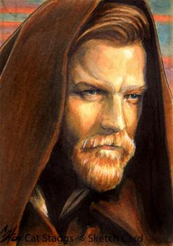 Obi Wan sketchcard by gattadonna