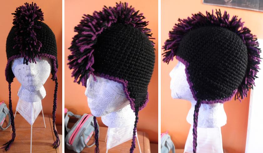 Crochet Mohawk Hat By Misfit Mistress On Deviantart