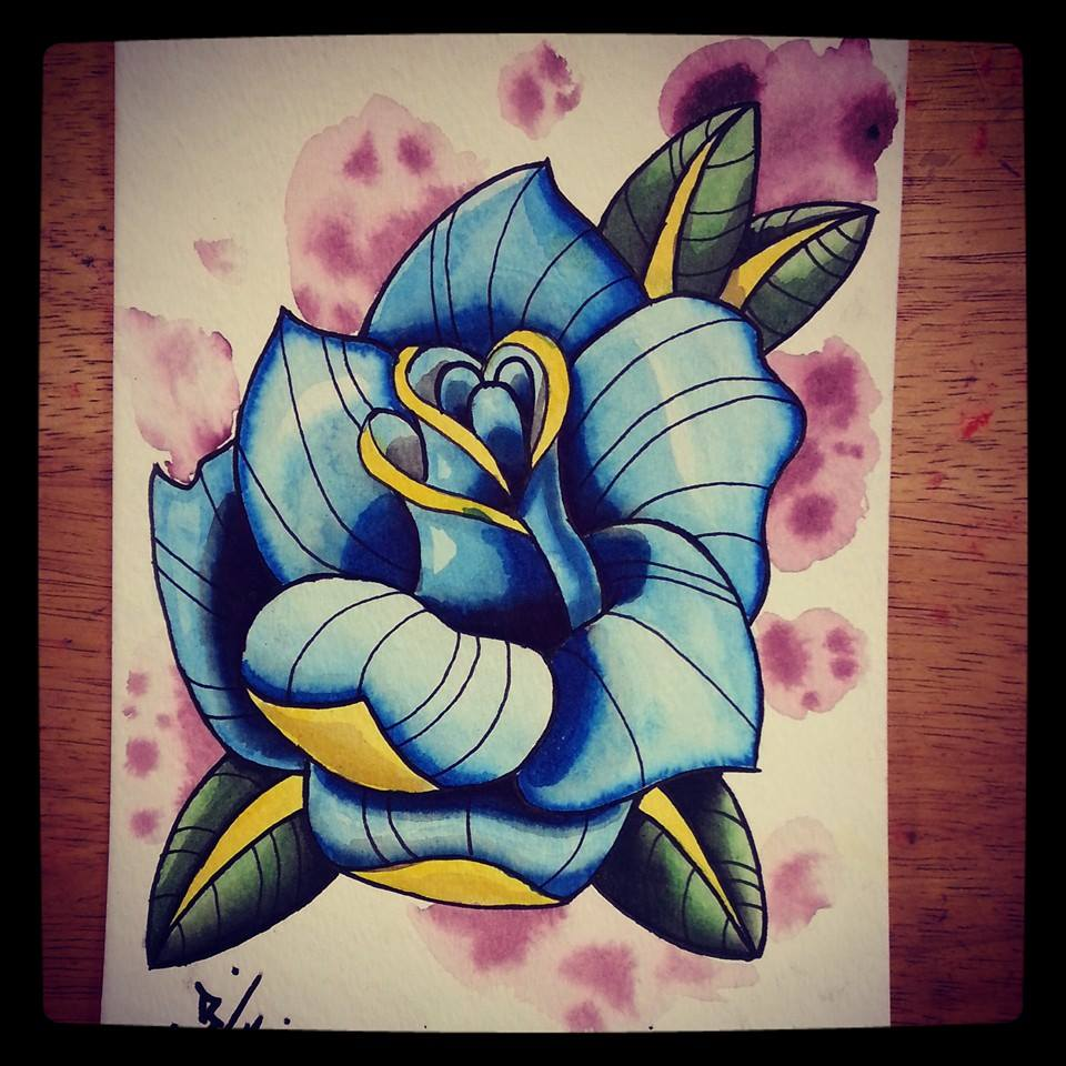Neotraditional rose by bigkahunna1 on deviantart for Neo traditional rose tattoo
