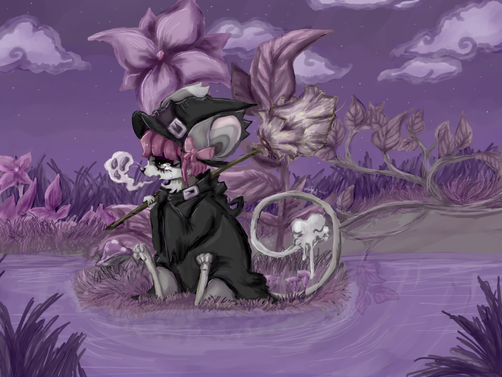 Purple Pond by Gekkogahara