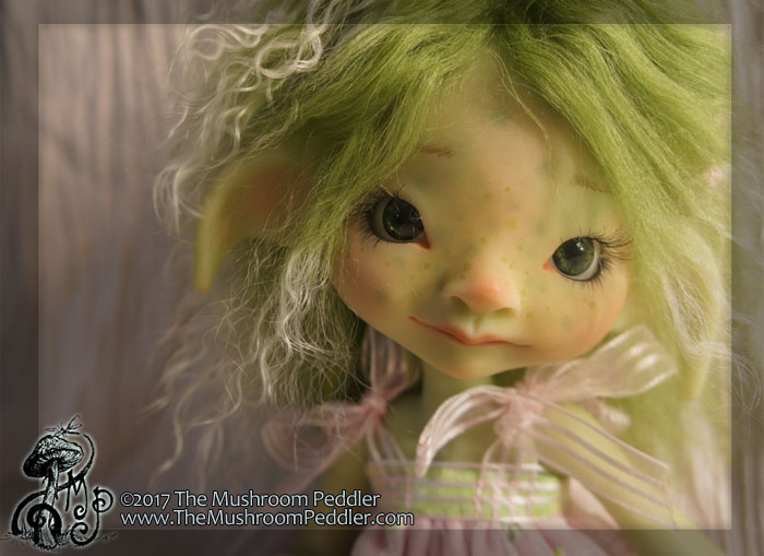 Ivy - green resin BJD - fullset - Wandering Rose 2 by TheMushroomPeddler