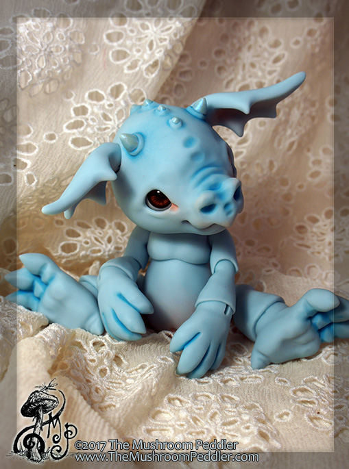 Blue Smoulder the Baby Dragon by TheMushroomPeddler