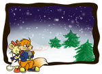 Conker and Pipsy in winter