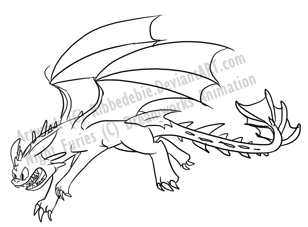 Night fury coloring pages - a-k-b.info