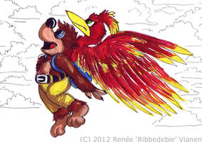 Banjo-Kazooie marker thing by Ribbedebie