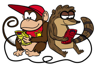 nerds with gameboys by Ribbedebie
