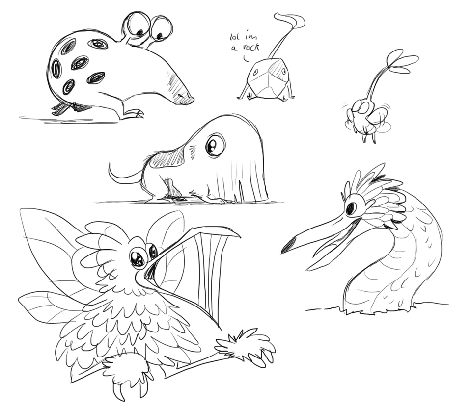 pikmin bulborb coloring pages | Some Pikmin 3 creatures by Ribbedebie on DeviantArt