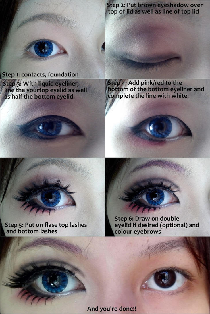 Cosplay eye makeup tutorial by Wenqiann