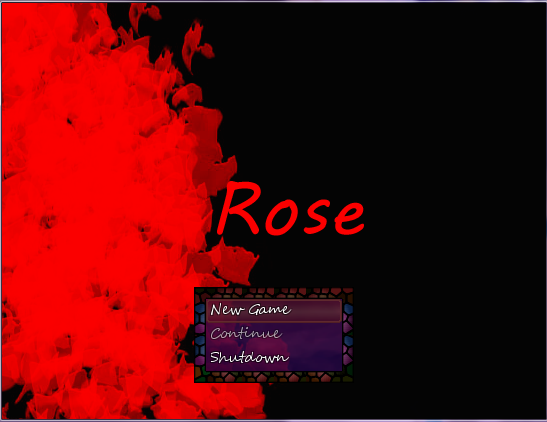Rose- Horror RPG Maker Game Title Screen by SomeKindaFan1 on