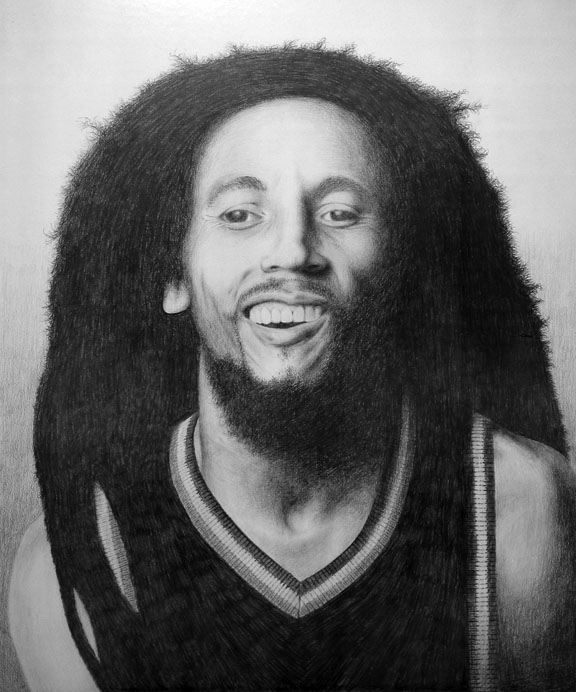 Bob Marley Portrait by Huwman
