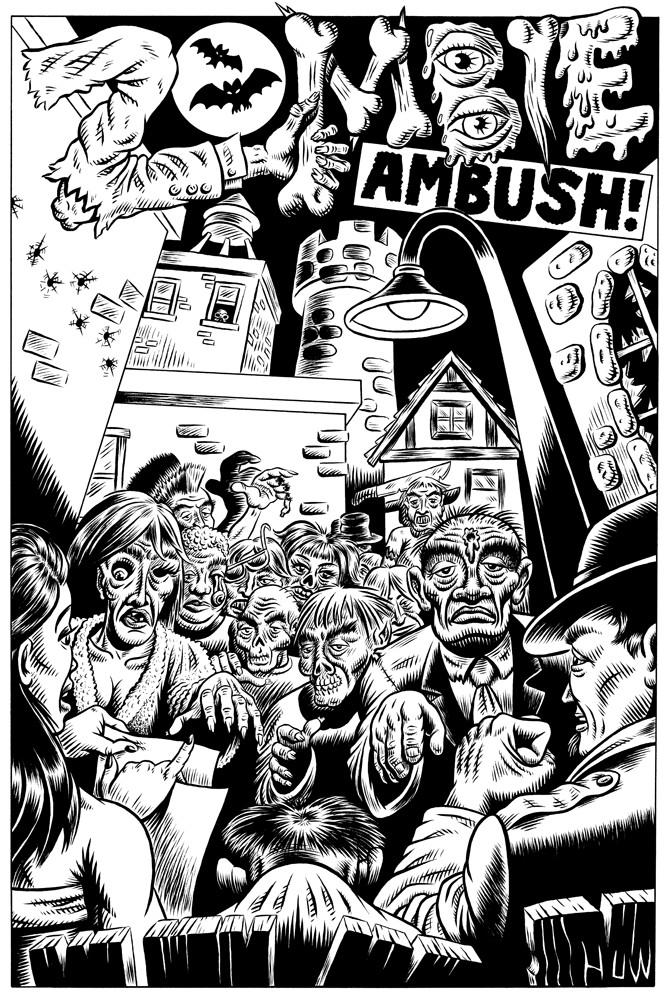 Zombie Ambush Splash Page by Huwman