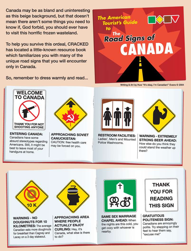Canadian Road Signs Page 1 By Huwman On Deviantart