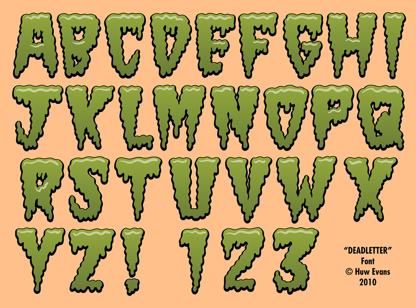 Diner of the Dead Font by Huwman