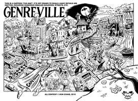 Genreville Map by Huwman