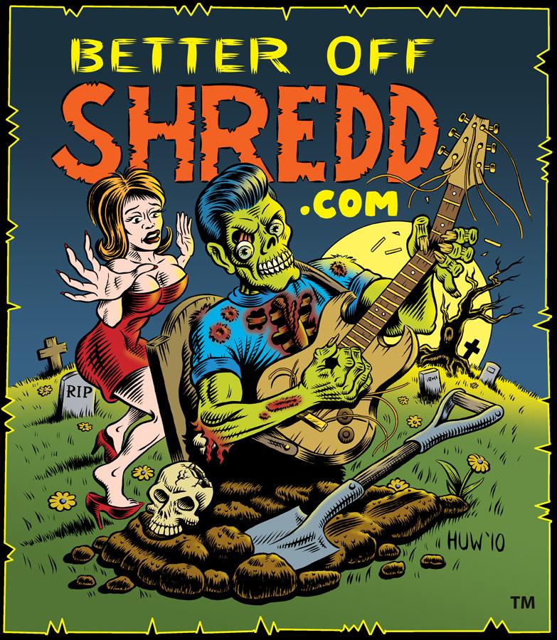 Guitar Shredding Zombie by Huwman