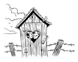 Outhouse Romance Illo by Huwman