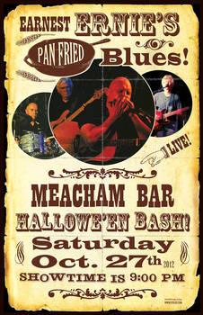 Earnest Ernie's Blues Gig Poster