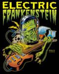 Electric Frankenstein Poster COLOURED