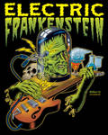 Electric Frankenstein Poster COLOURED