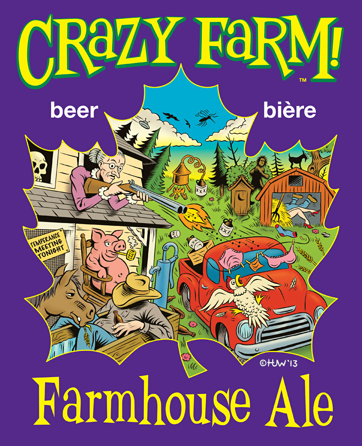 CRAZY FARM Beer Logo by Huwman
