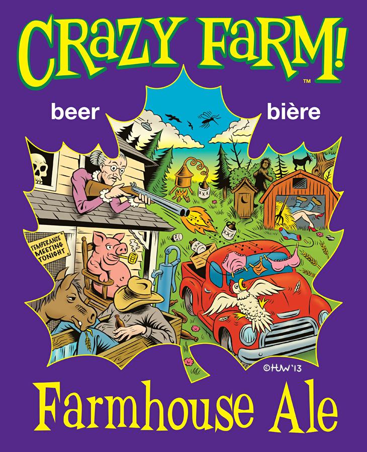 CRAZY FARM Beer Logo by Huwman