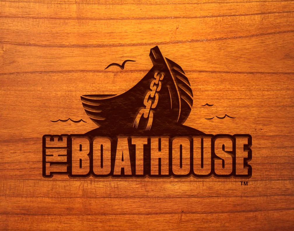 BOATHOUSE Burnt Wood Mockup by Huwman