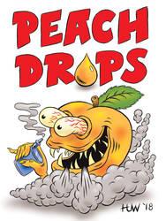 PEACH DROPS Vape Juice Mascot