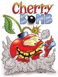 CHERRY BOMB Vape Juice Mascot