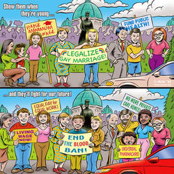 MoveUp Cartoon #45 All-Age Activists