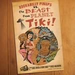 Faux Retro Rockabilly Tiki Movie Poster
