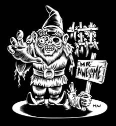Zombie Garden Gnome for Mr. Awesome