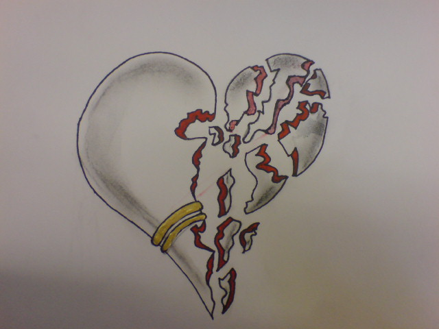 Shattered Heart Drawings Shattered heart