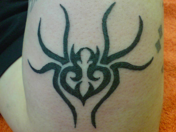 tribal spider tattoo. Tribal Spider Tattoo by