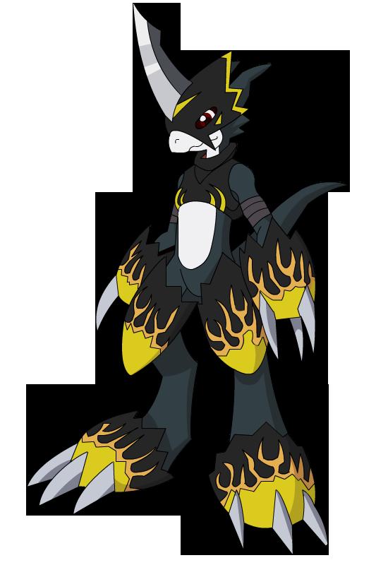 Dark Flamedramon by raysaber