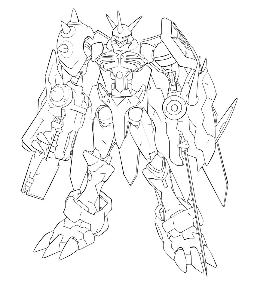 Digimon omegamon free colouring pages for Digimon coloring pages