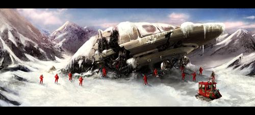 UFO crash by Sanskarans