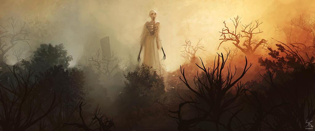 Lady in the garden by Sanskarans