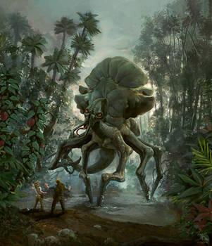 The creature of forbidden isle by Sanskarans