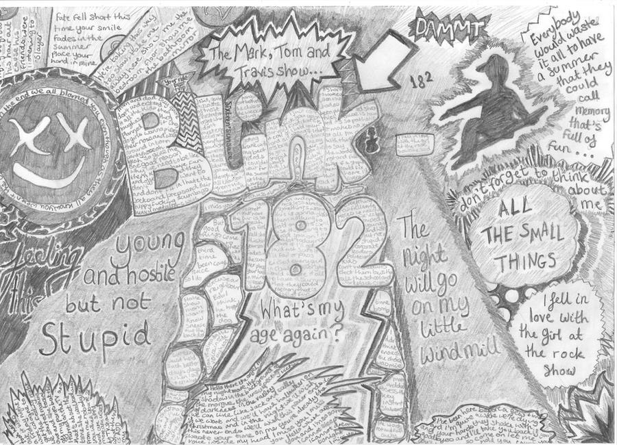 Blink 182 lyrics collage by HannahAtTheDisco